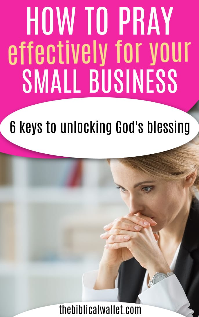 how to pray for your business